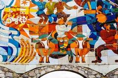 Monument van ilustration van het Shota Rustaveli-gedicht de Ridder stock afbeelding