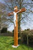 Monument van Jesus in Noord-Ierland Stock Foto