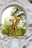 Monument van Johann Strauss-zoon in Stadtpark Stock Fotografie