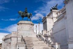 Monument van Kampioen Emmanuel II Stock Afbeeldingen