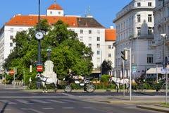 Monument van Karl Lueger in Karl Lueger Platz in Wenen Royalty-vrije Stock Foto's