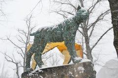 Monument van kat Royalty-vrije Stock Afbeeldingen