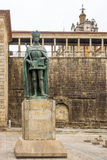 Monument van Koning Dom Duarte in Viseu - Portugal Royalty-vrije Stock Afbeeldingen