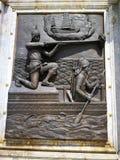 Monument van Koning Naresuan in het oude historische land van Thailand Royalty-vrije Stock Afbeeldingen