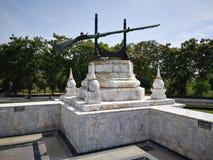 Monument van Koning Naresuan in het oude historische land van Thailand Stock Afbeeldingen
