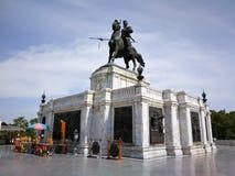 Monument van Koning Naresuan in het oude historische land van Thailand Royalty-vrije Stock Fotografie