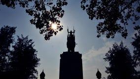 Monument van Koning Naresuan in supanburi Thailand Stock Afbeelding