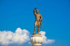 Monument van Koning Philip van Macedonië in Skopje Stock Fotografie