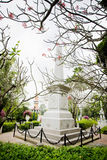 Monument van Koningin Sunanta, Koning Rama V de koninklijke partner van ` s, en thei stock fotografie