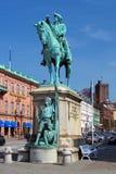 Monument van Magnus Stenbock in Helsingborg, Zweden Stock Afbeelding