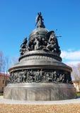Monument van Millennium van Rusland stock foto's