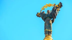 Monument van Onafhankelijkheid van de Oekraïne voor blauwe hemel Mo royalty-vrije stock foto's