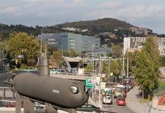 Monument van onderzeeër. Barcelona. stock foto's