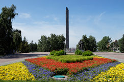 Monument van Overwinning in Barnaul, Rusland royalty-vrije stock foto