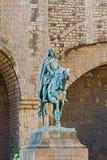 Monument van Ramon Berenguer III, Telling van Barcelona stock foto's