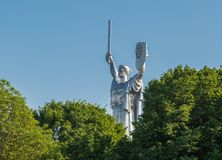 Monument van Vaderland kiev ukraine stock foto's