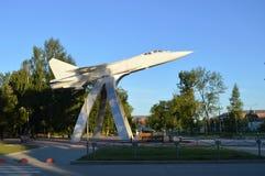 Monument van vliegtuig in de ochtend royalty-vrije stock fotografie