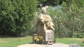Monument Vanga in Rupite in Bulgaria. Temple of Saint Petka built Vanga stock footage