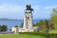 Monument of Vasily Tatishchev in Togliatti, Russia Royalty Free Stock Photo