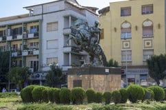 Monument in Veles-stad Macedonië Royalty-vrije Stock Afbeeldingen