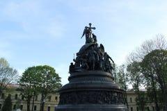monument in Velikiy Novgorod stock foto