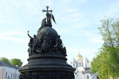 monument in Velikiy Novgorod royalty-vrije stock afbeelding