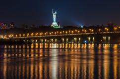 Monument vers la mère patrie à Kiev, Ukraine photo libre de droits
