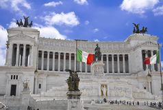 Monument of Victor Emmanuel II Royalty Free Stock Images