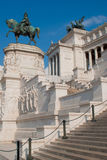 The Monument of Victor Emmanuel II. Victor Emmanuel II monument, is an enourmus building in Piazza Venezia, Rome, Italy Royalty Free Stock Photography