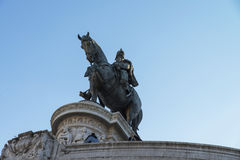 Monument of Victor Emmanuel II at Piazza Venezia in Rome Stock Image