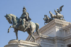 The monument of the Victorian in Rome. Is very famous and has been erected to Vittorio Emanuele II King of Italy. Also known as Altar of the Nation is located Stock Images