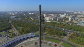 Monument of the Victory stock footage