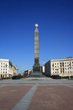 Monument on the Victory square Stock Photography