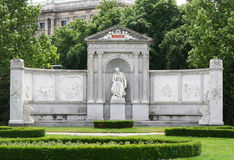 MONUMENT IN VIENNA PARK. At spring Royalty Free Stock Photos