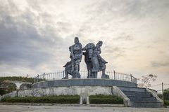 Monument of Vietnamese ethnic minority group in Kon Tum province, central highlands of Vietnam.  Royalty Free Stock Photo