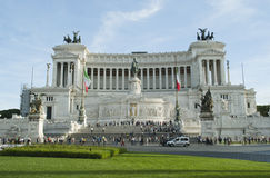 The monument of Vittorio Emanuel Stock Images