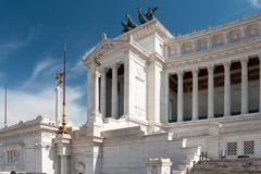 Monument of the Vittorio Emanuele II Royalty Free Stock Image