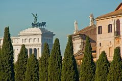 Monument of Vittorio Emanuele II Royalty Free Stock Photography
