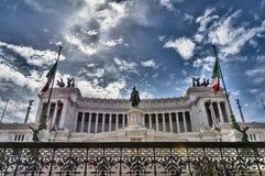 Monument of  Vittorio Emanuele II Stock Images