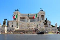 Monument  Vittorio Emanuele II Stock Photos
