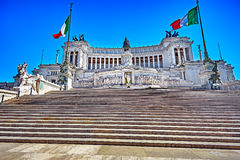 Monument Vittorio Emanuele II or Altar of the Fatherland in Roma Royalty Free Stock Photos