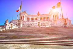 Monument Vittorio Emanuele II or Altar of the Fatherland in Roma Royalty Free Stock Image