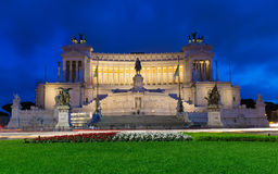 Monument Vittorio Emanuele II and Altar of Fatherland in Rome Royalty Free Stock Photos