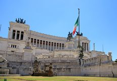 Monument Vittorio Emanuele II or Altar of the Fatherland in Rome Royalty Free Stock Photo