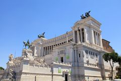 Monument Vittorio Emanuele II or Altar of the Fatherland in Rome. ROME, ITALY - JULY 17, 2017: Monument Vittorio Emanuele II or Altar of the Fatherland in stock image