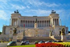 Monument Vittorio Emanuele II eller altare av fäderneslandet i Rome arkivfoton