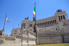Monument Vittorio Emanuele II ou autel de la patrie à Rome Images libres de droits