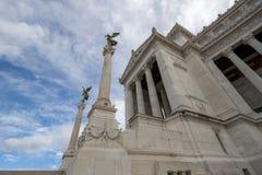 Monument Vittorio Emanuele II ou autel de la patrie à Rome, Italie Images libres de droits