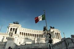 Monument Vittorio Emanuele II, Rom, Italien Stockbilder