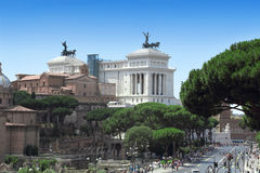 Monument Vittorio Emanuele II in Roma Stock Photo